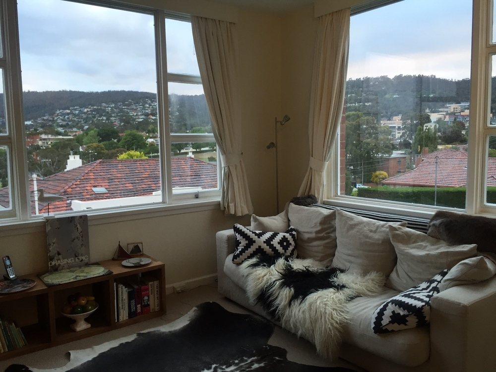 Our Airbnb flat in Hobart, Tasmania
