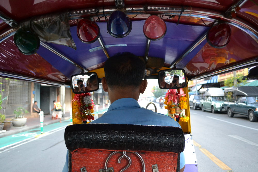 Life in the back of a tuktuk - keep all limbs inside the ride at all times.
