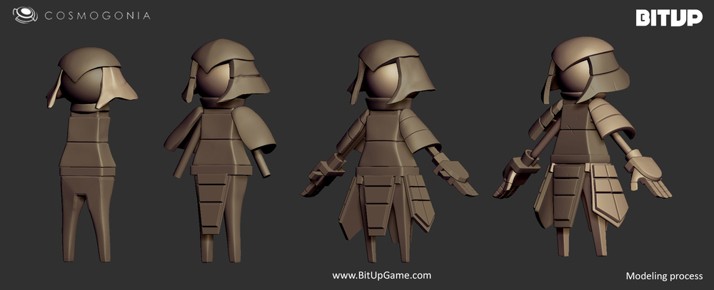 3d Character Design Process : — bitup a game by cosmogonia