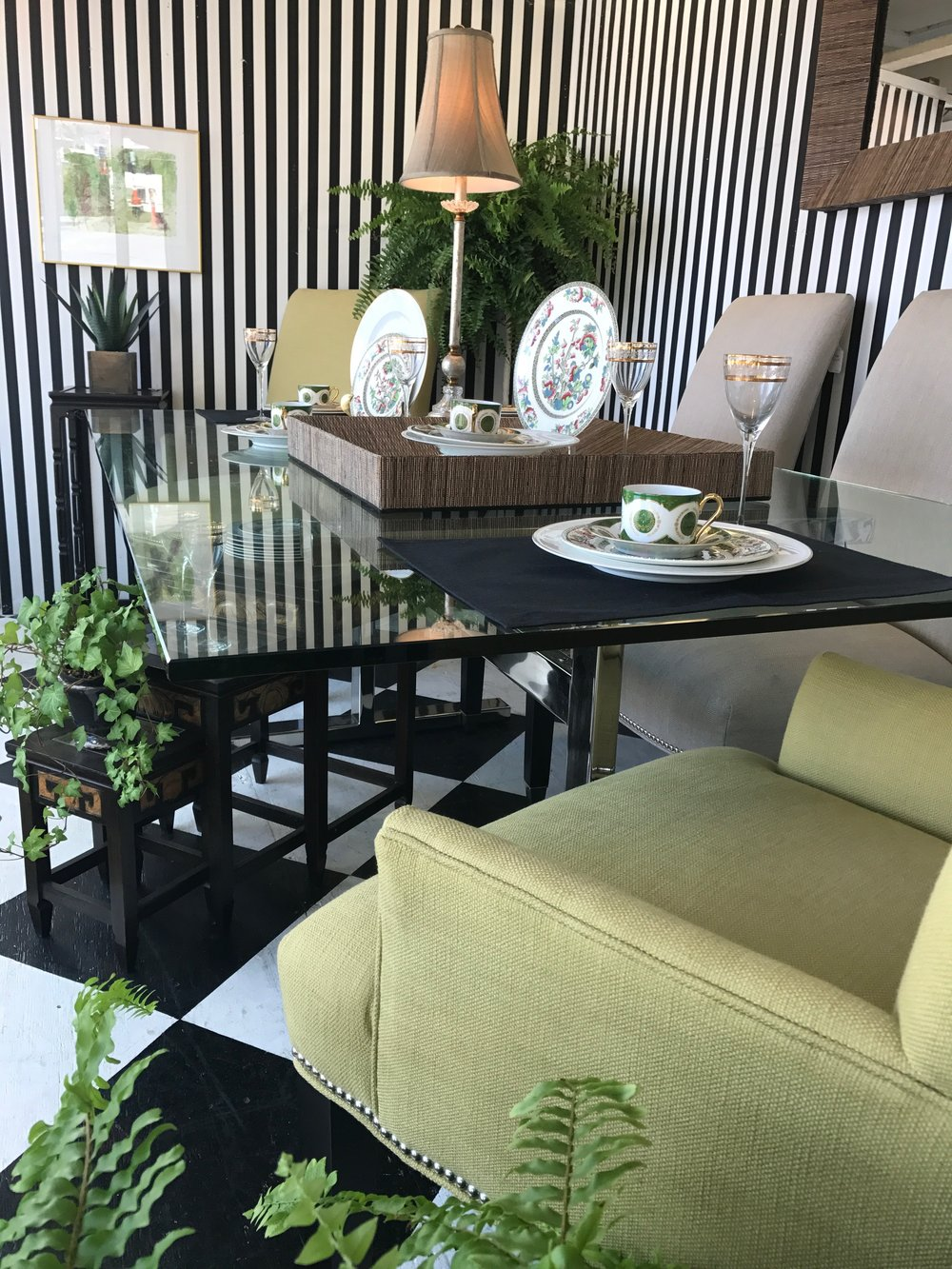 Why Not Spruce Up Your Space With A Pair Of Green Zebra Chairs? A Touch Of  Modern Works With Any Decor. Paired With This Lynn Chase Framed Scarf And  You ...