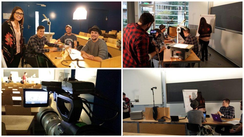 Gemeinsam mit der fleissigen Projektgruppe, verantwortlich für die Social Media Guidelines, hatten Adrian Wüthrich und ich den ersten Dreh für den Projektfilm der ZHAW SML.