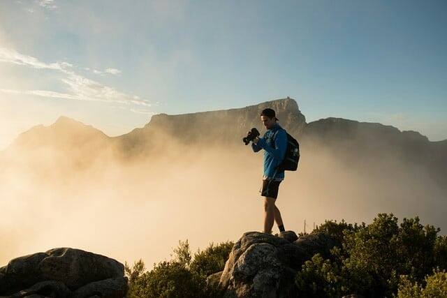Had a great sunrise mission with @kevinsawyer & @marksampsonct this morning.  #CapeTown #lionshead #CameraTalk