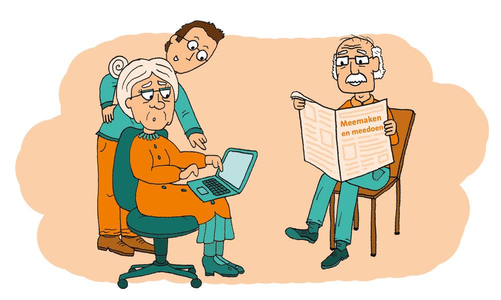 Computercursus - Bibliotheek Den Bosch helpt mensen om hun digitale vaardigheden te ontwikkelen en om zelfredzamer te worden. Oma kan bijvoorbeeld geholpen worden met het invullen van de belastingaangifte terwijl opa rustig de krant doorleest. Ook voor mensen die nog niet goed overweg kunnen met een computer en het internet, zijn er cursussen bij de bibliotheek.