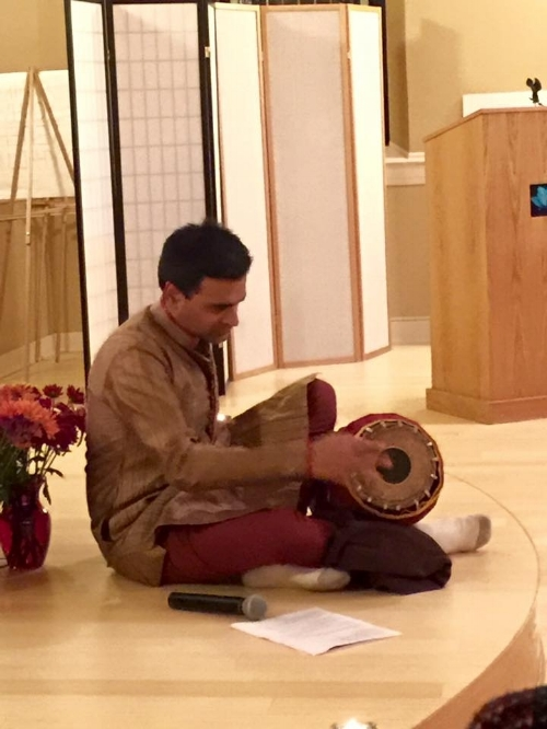 Ravi Subramanyan plays the Mridangam