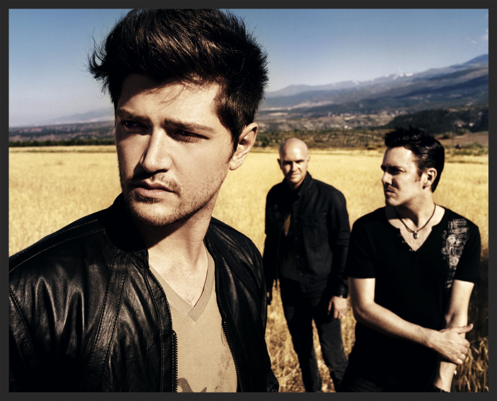 The Script's  Danny O'Donoghue,   Mark Sheehan, and Glen Power.