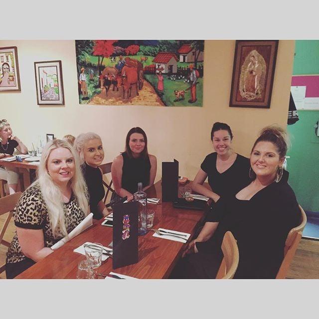 These beautiful ladies enjoying some Latin American Cuisine @villamaria_restaurant on #tacotuesday