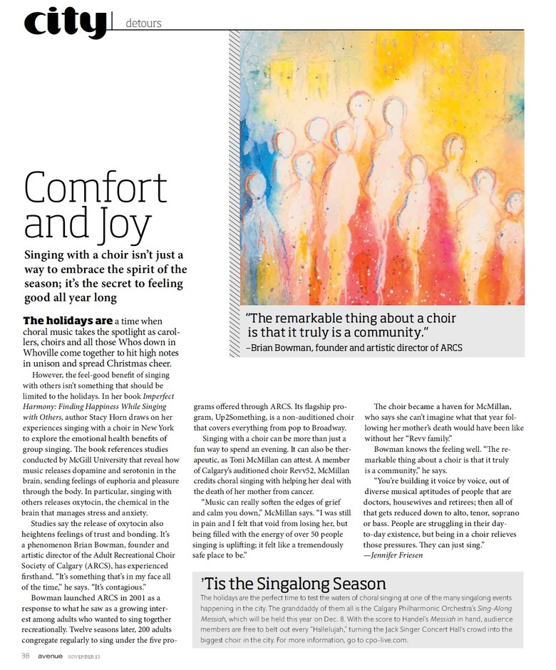 Published in Avenue magazine's November, 2013 issue.