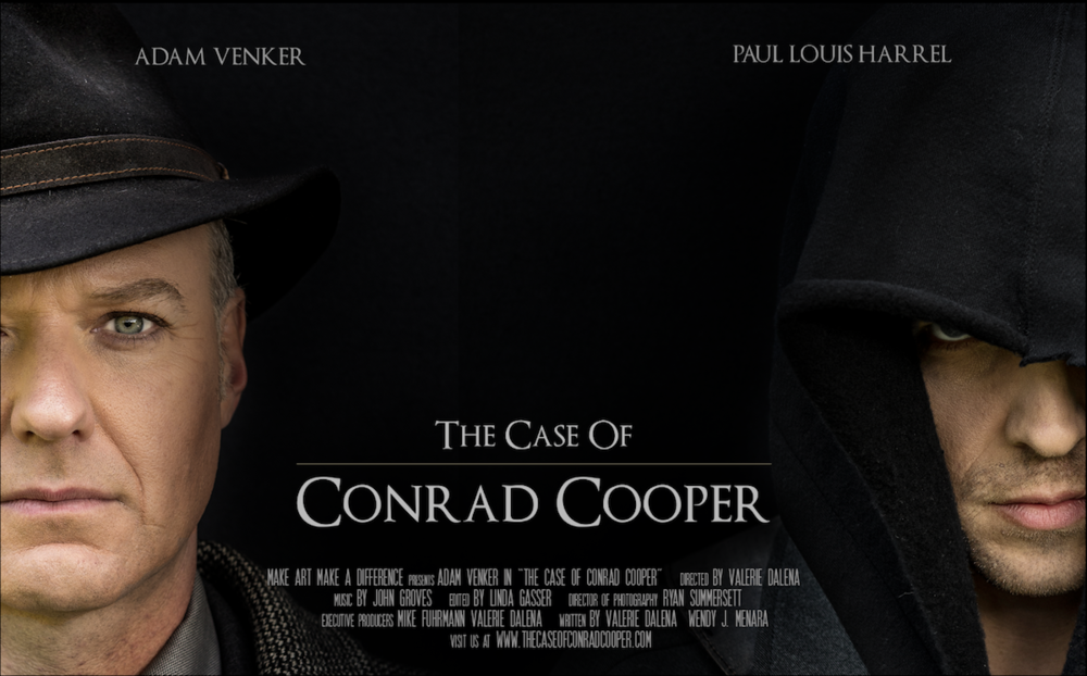 Movie Poster for the short film The Case of Conrad Cooper.  Photography by Alicia Rius Photography.
