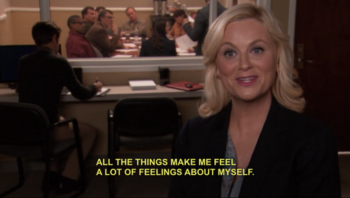 Leslie Knope and the Feelings