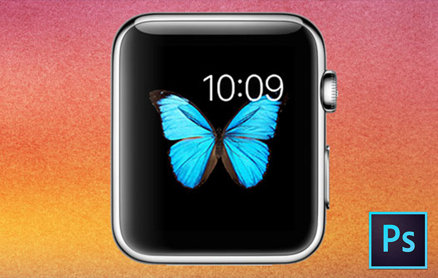 Screen & App Icon. PSD with template for Apple Watch. by @happywatchblog