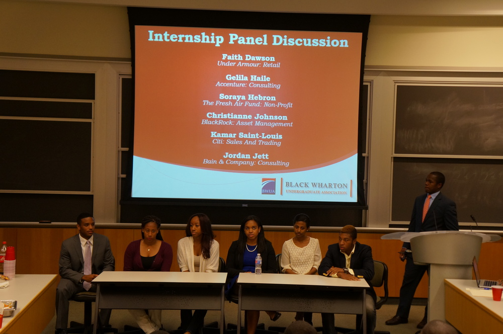 Panelist discuss summer internships across various industries.