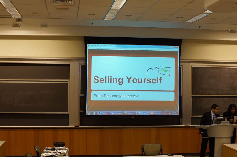 Selling Yourself: From Resume to Interview