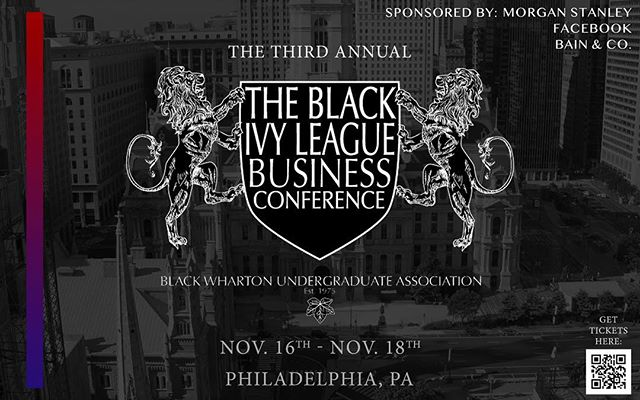 Interested in a career in finance, technology, or consulting? Starting your own business? Working in journalism? If yes to any of the above, join us at the Black Ivy League Business Conference as we're back for our third consecutive year! This year's BILBCon is from November 16-18th, 2018 on the University of Pennsylvania's campus in Philadelphia. Don't miss your chance to meet the rest of the brightest young talent that the Ivy League has to offer! To buy a ticket, click the link in our bio, and be sure to follow @blackivybusiness for updates.