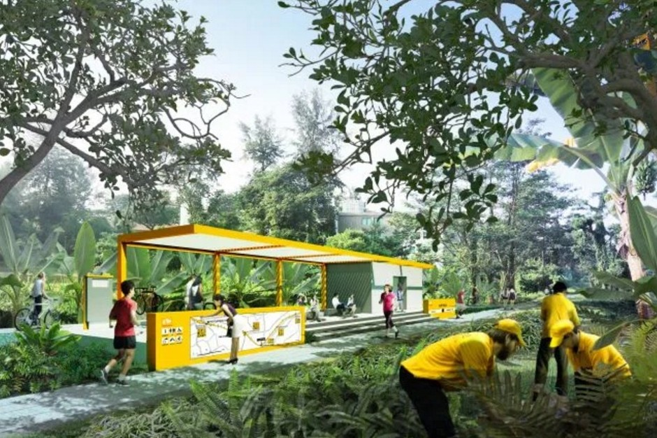 Singapore's elevated park will stretch the length of the entire island