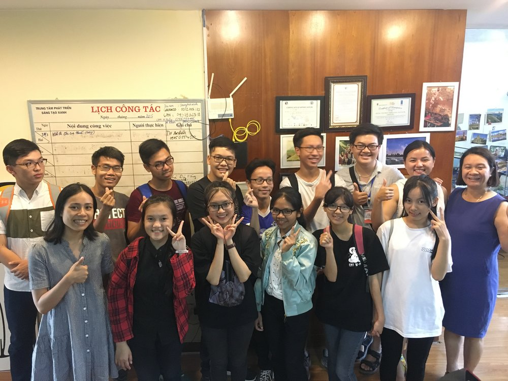 Our class had a field trip to GreenID, a renewable energy NGO in Vietnam, and heard an inspiring talk from Mrs. Khanh Thi Nguy (2018 Goldman Environmental Prize Winner from Asia).
