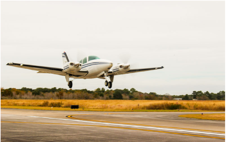 Pearland Regional Airport completed $600,000 in grant-funded safety projects in November. (Photo by Haley Morrison/community Impact Newspaper)