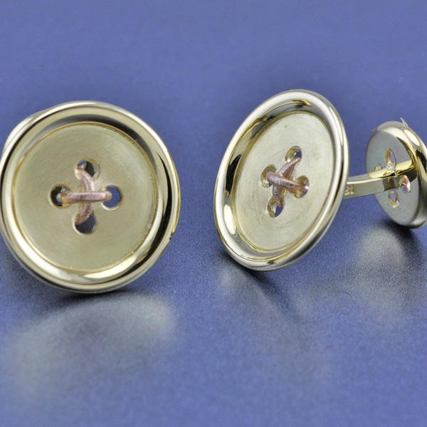 Two-tone Button Cufflinks