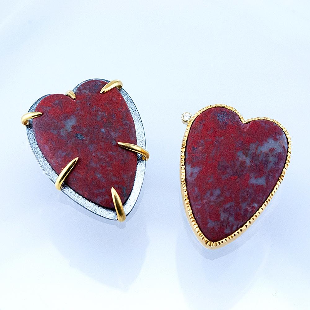 Cuprite Heart Pins