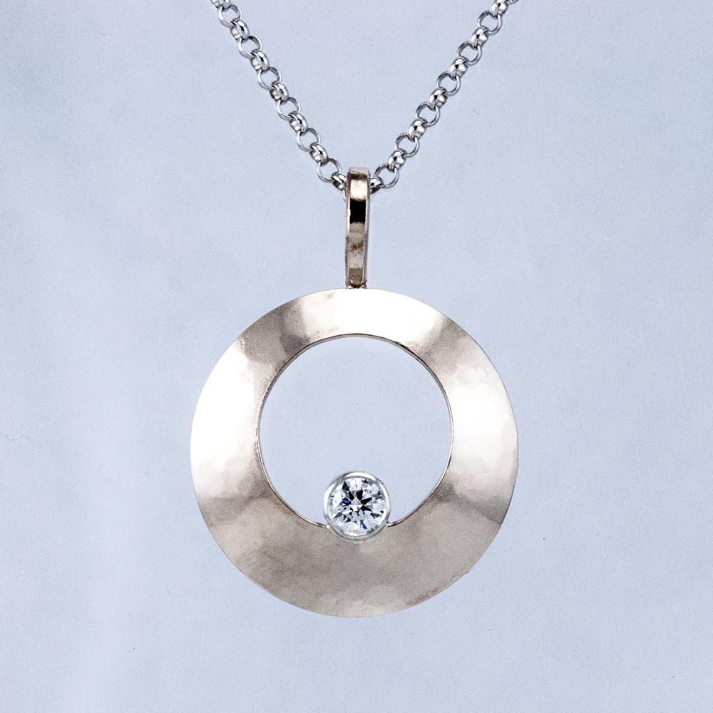 Small Round Luna Pendant