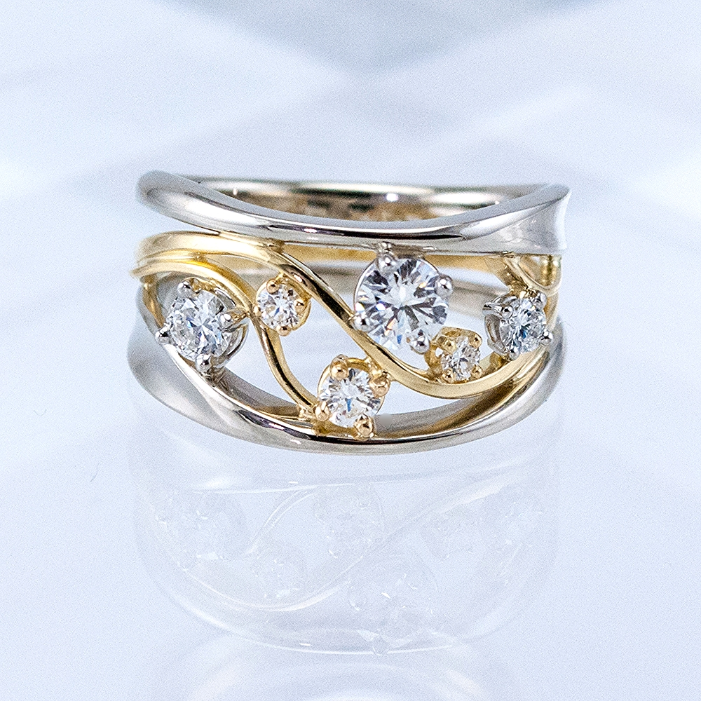 Two-Tone Constellation Ring