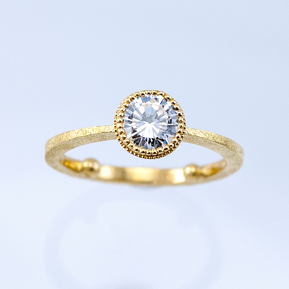Beaded Bezel Solitaire