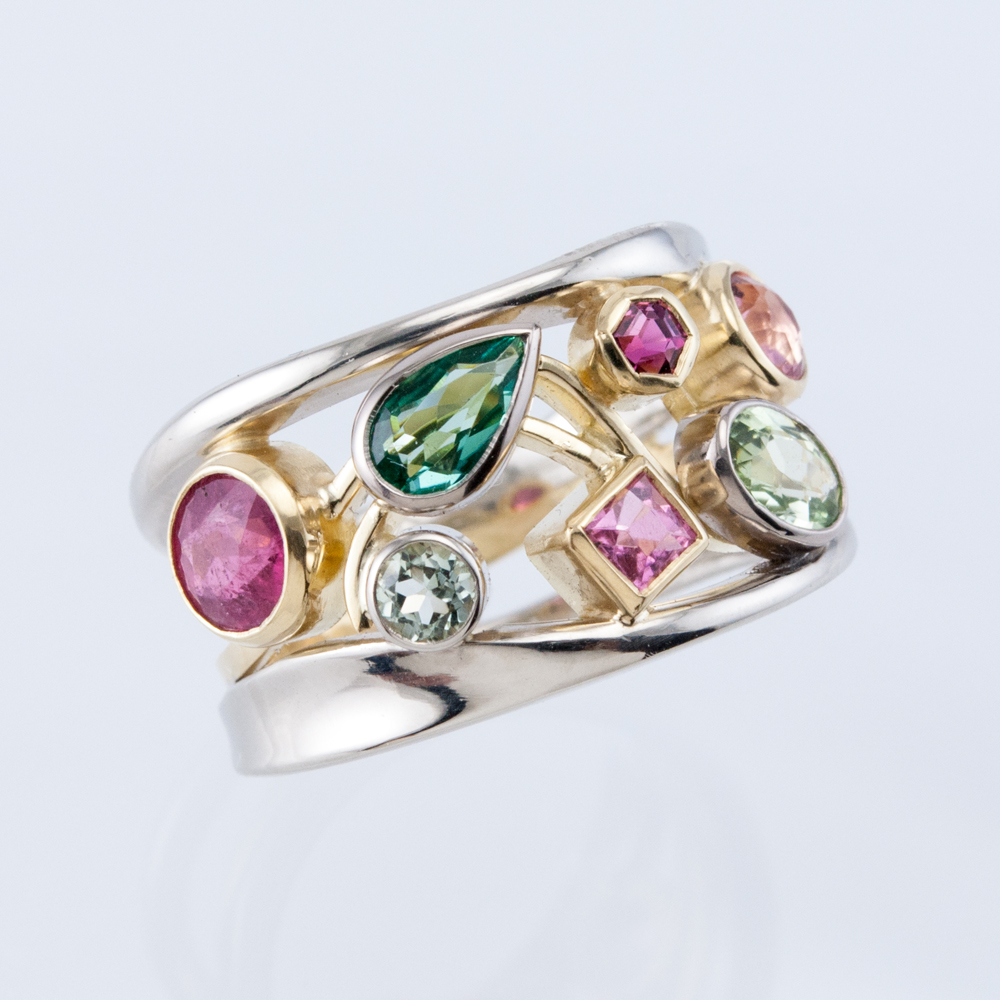 Maine Tourmaline Constellation Ring