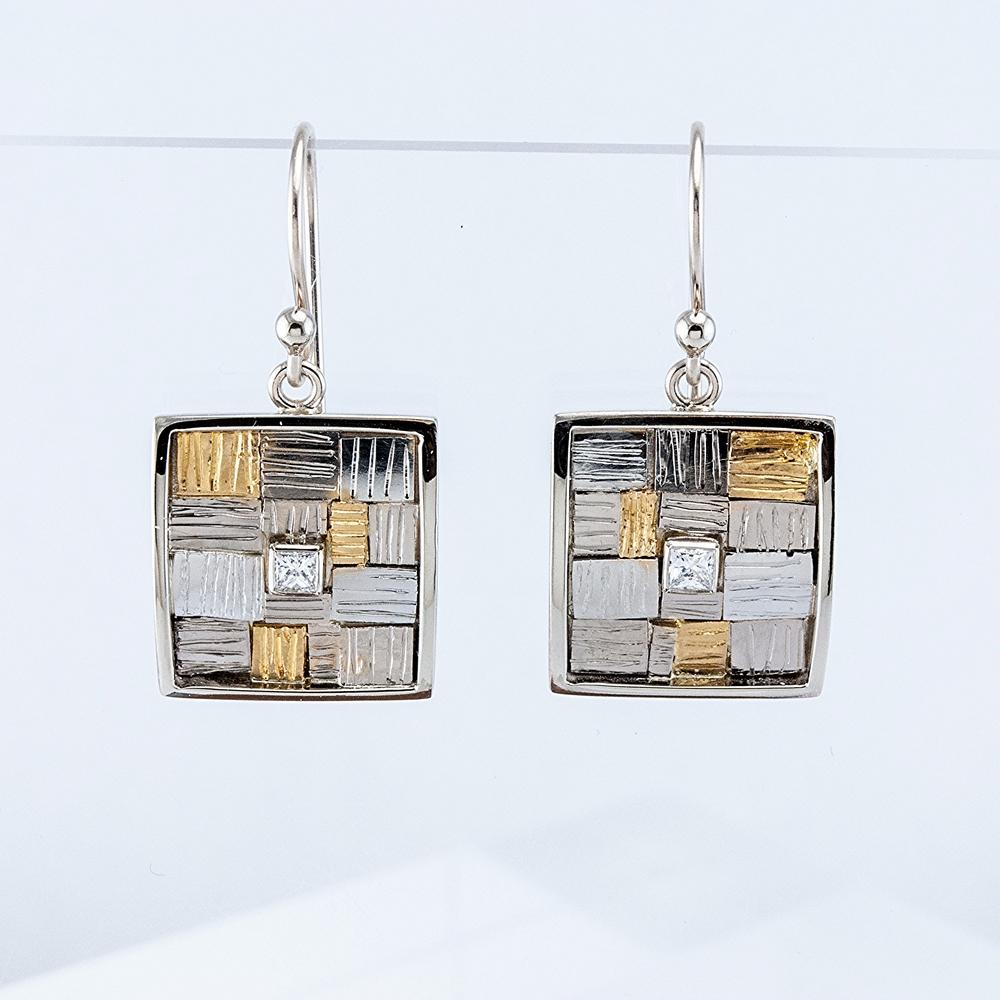 Cobblestone Diamond Earrings