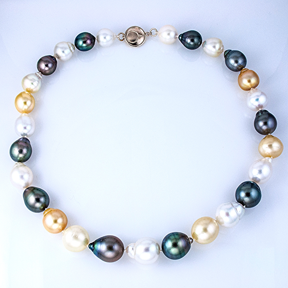 Tricolor South Sea Baroque Pearl Necklace