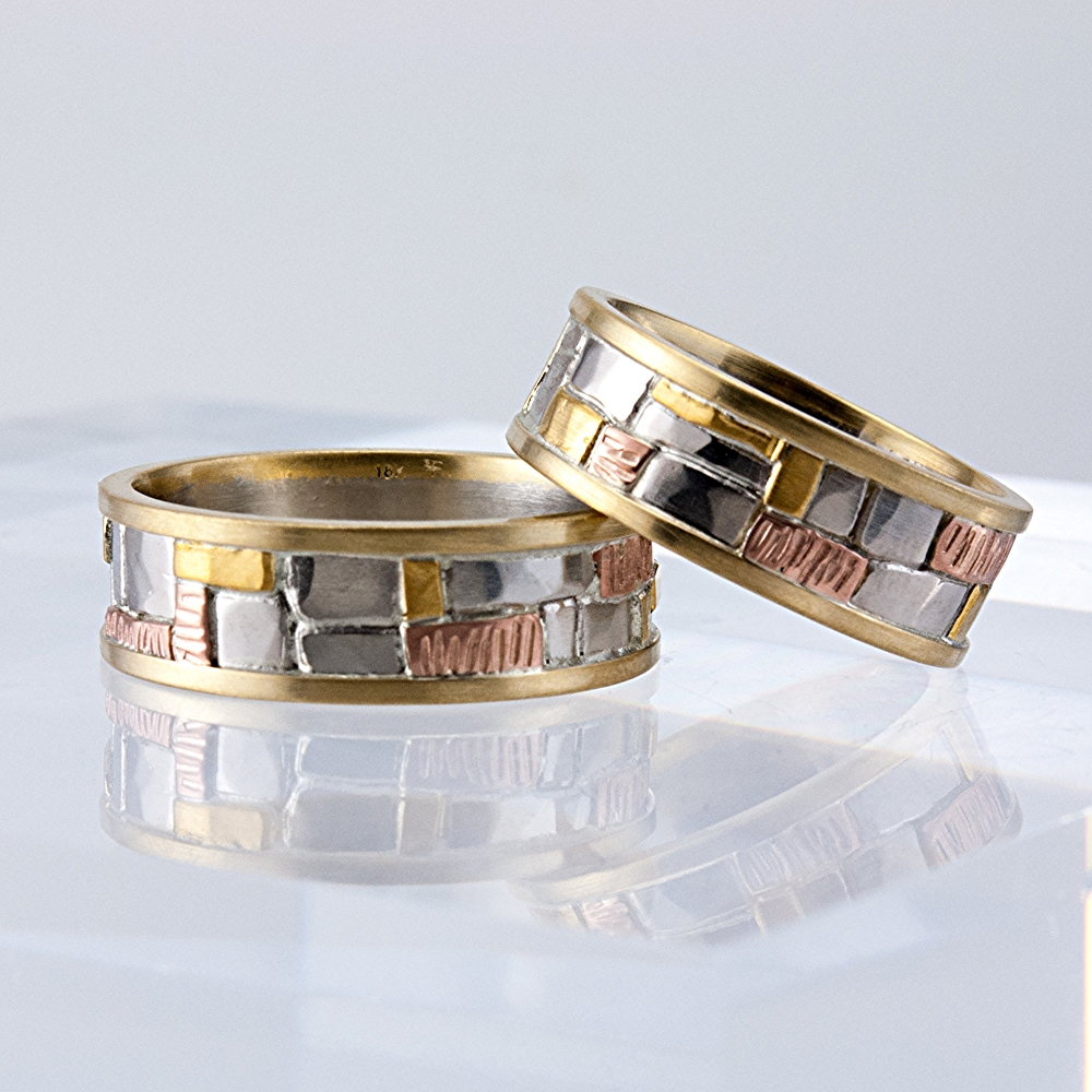 Custom Mosaic Wedding Bands