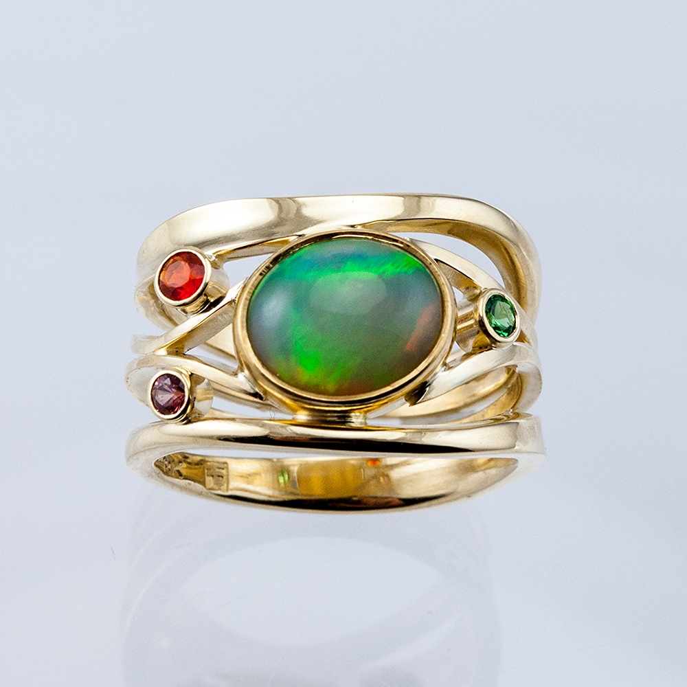 Constellation Ring with Ethiopian Opal