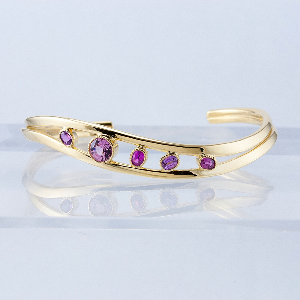 Duality Cuff with Pinks and Purples