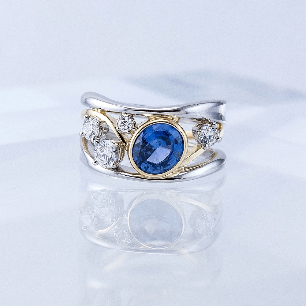 Constellation Ring with Oval Sapphire