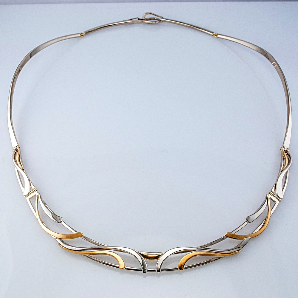 Custom Two-Tone Hinged Necklace