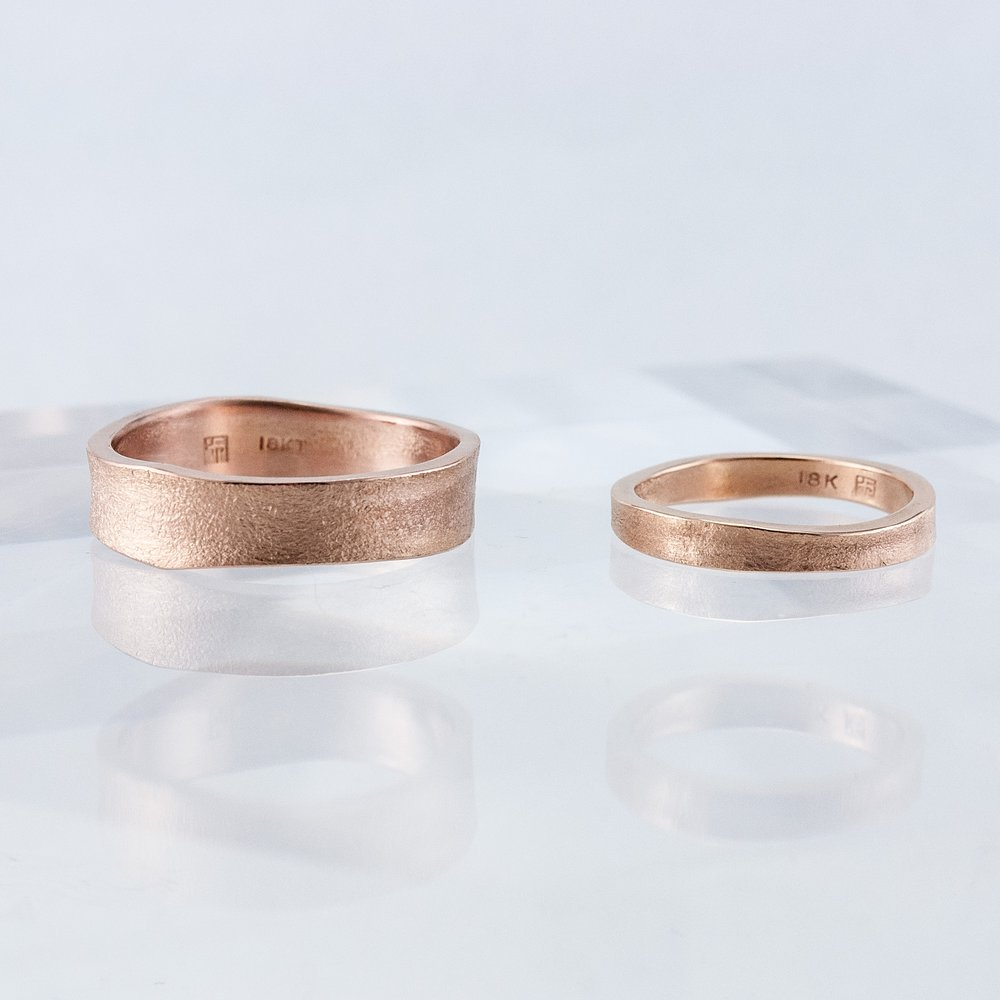 Pair of Rose Gold Desert Bands