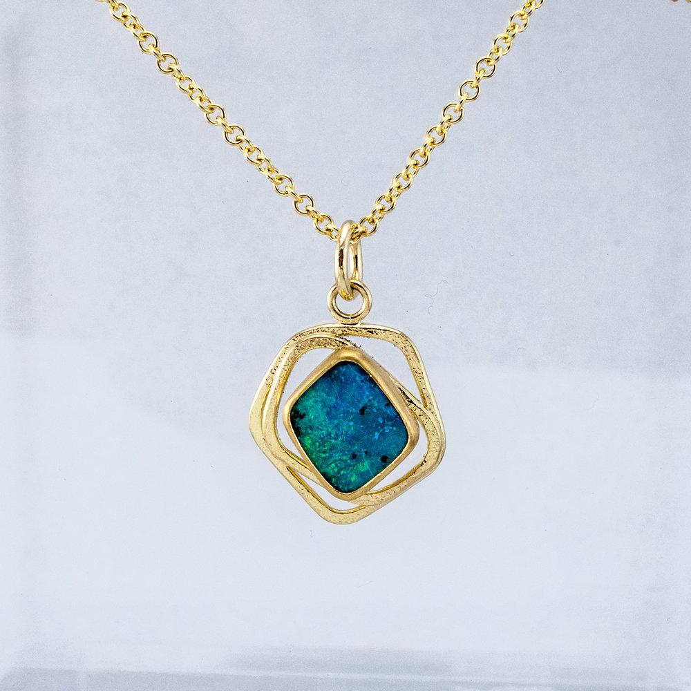 GEO Boulder Opal Pendant