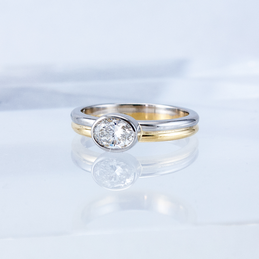 Oval Diamond Moonbeam Ring