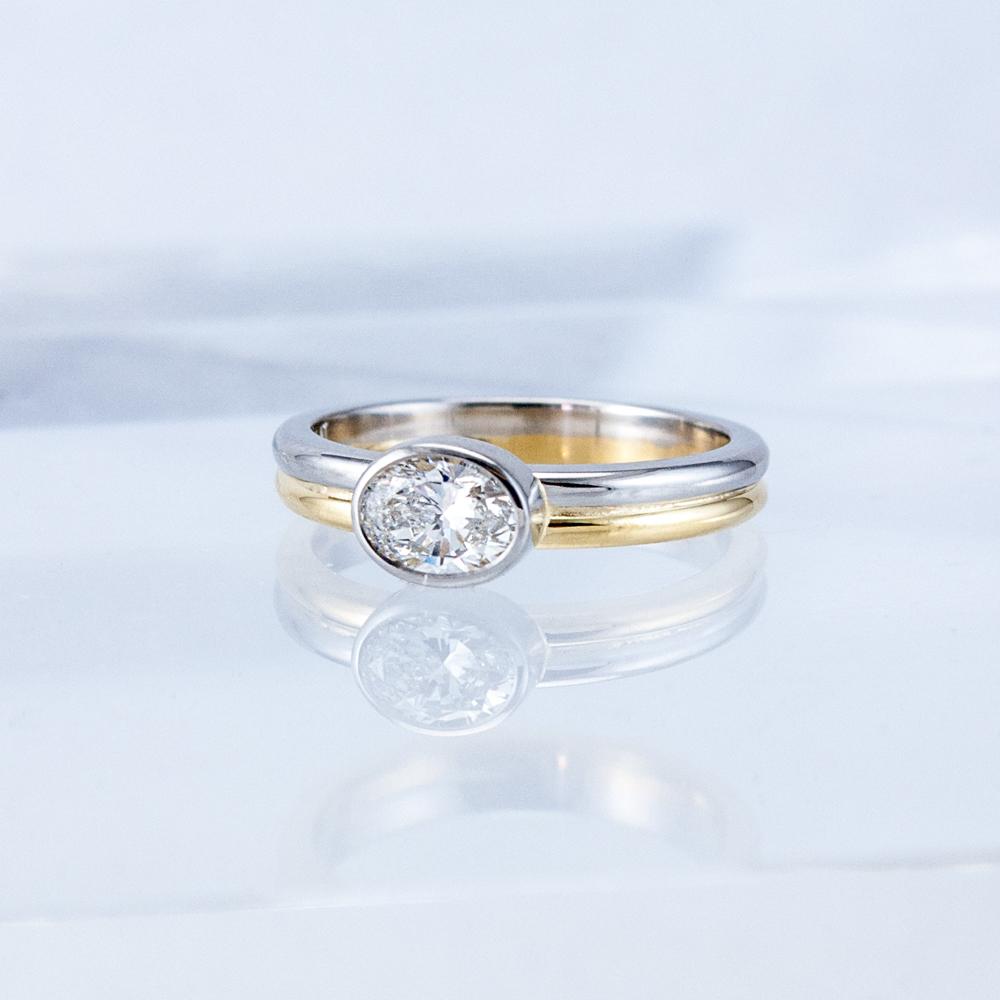 Oval Diamond Moonbeam Ring