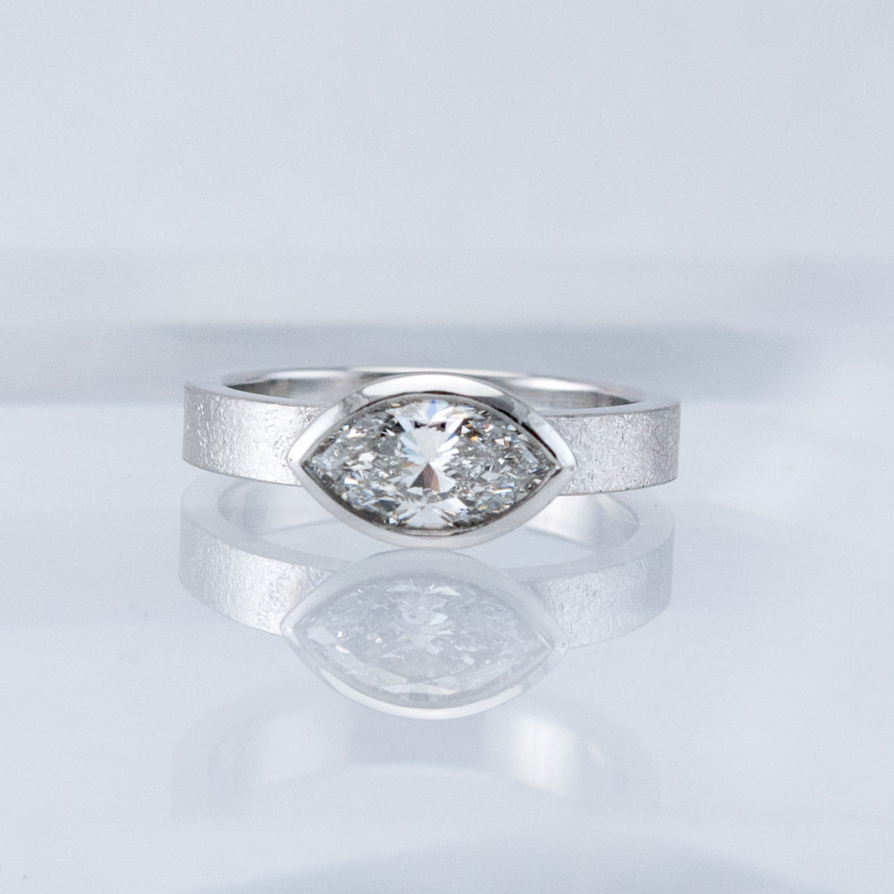 Desert Ring with Marquis Diamond