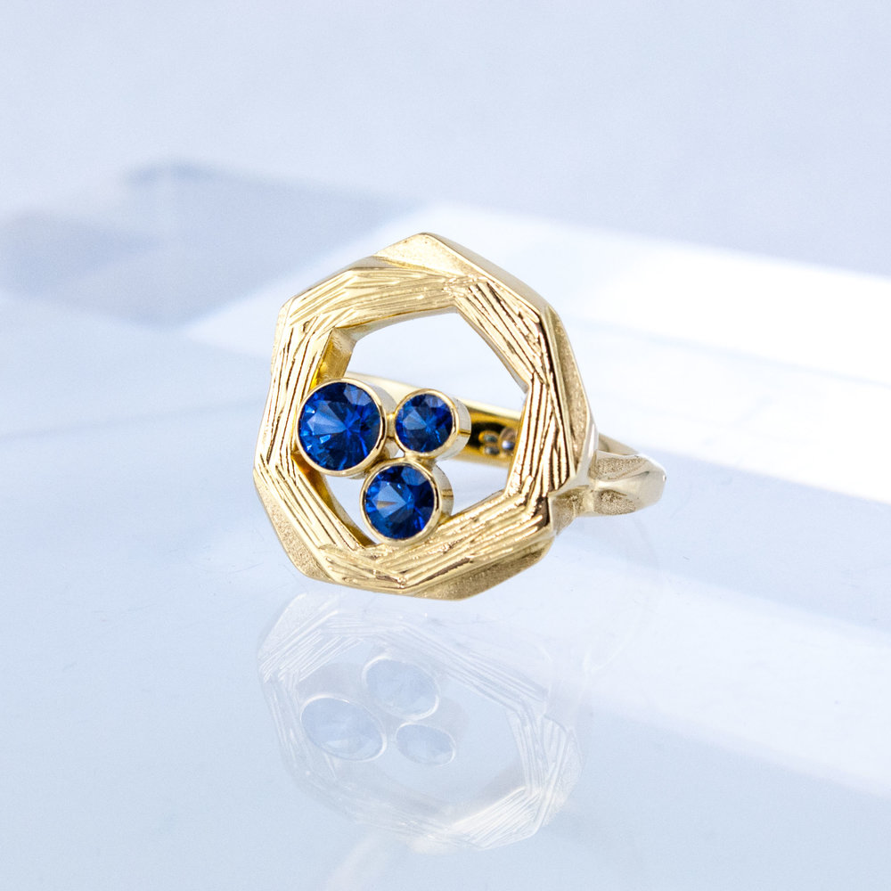 Nest Ring with Sapphires