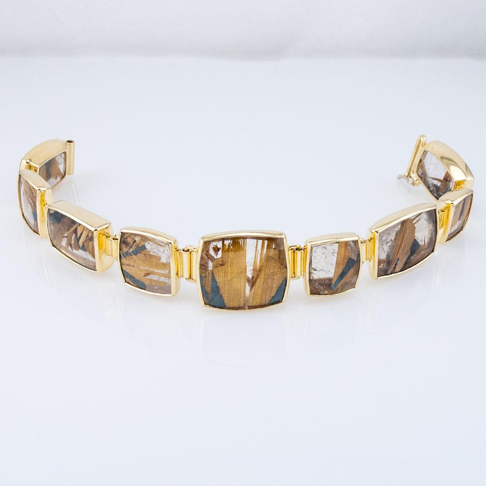 Rutilated Quartz Link Bracelet