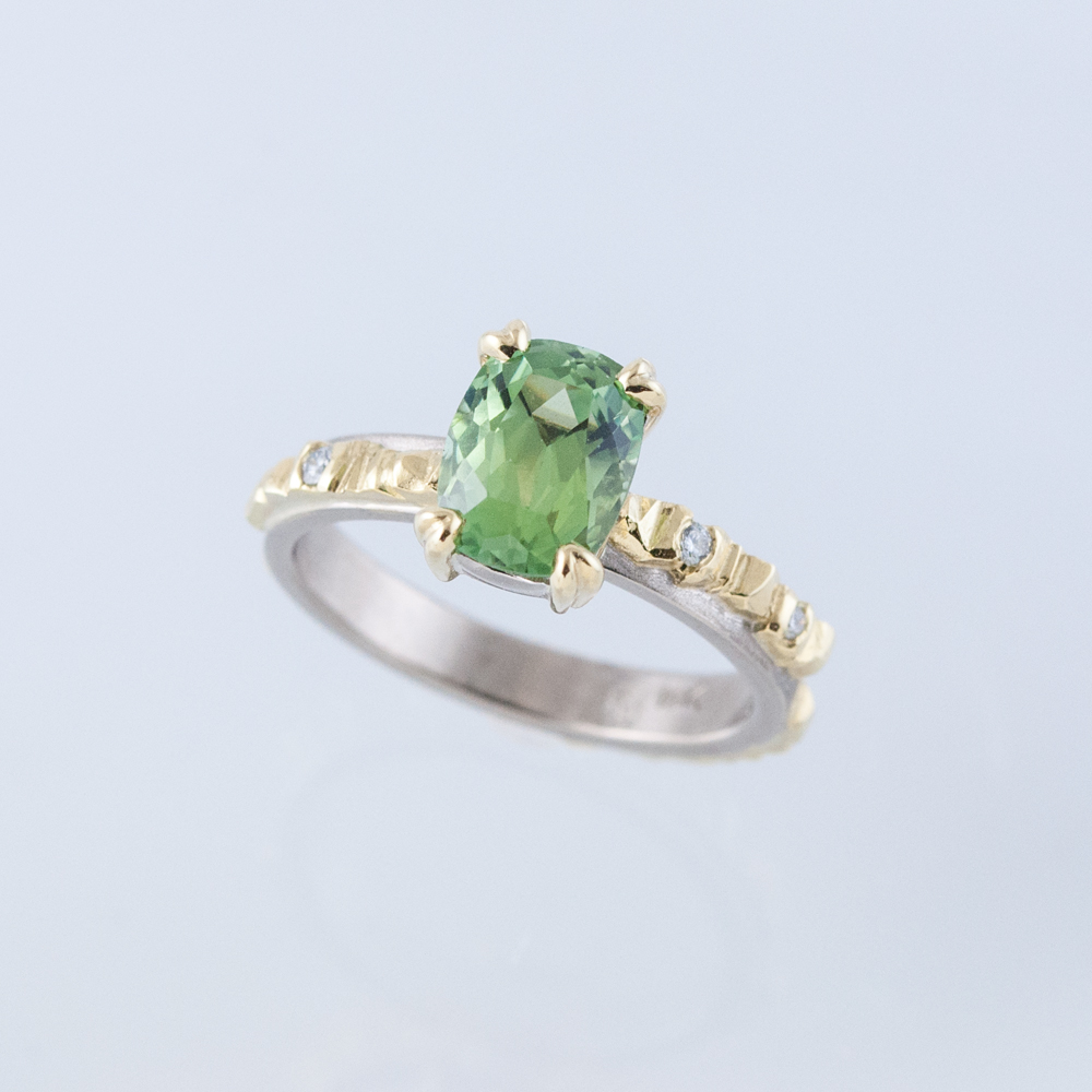 Mesa Ring with Mint Tourmaline