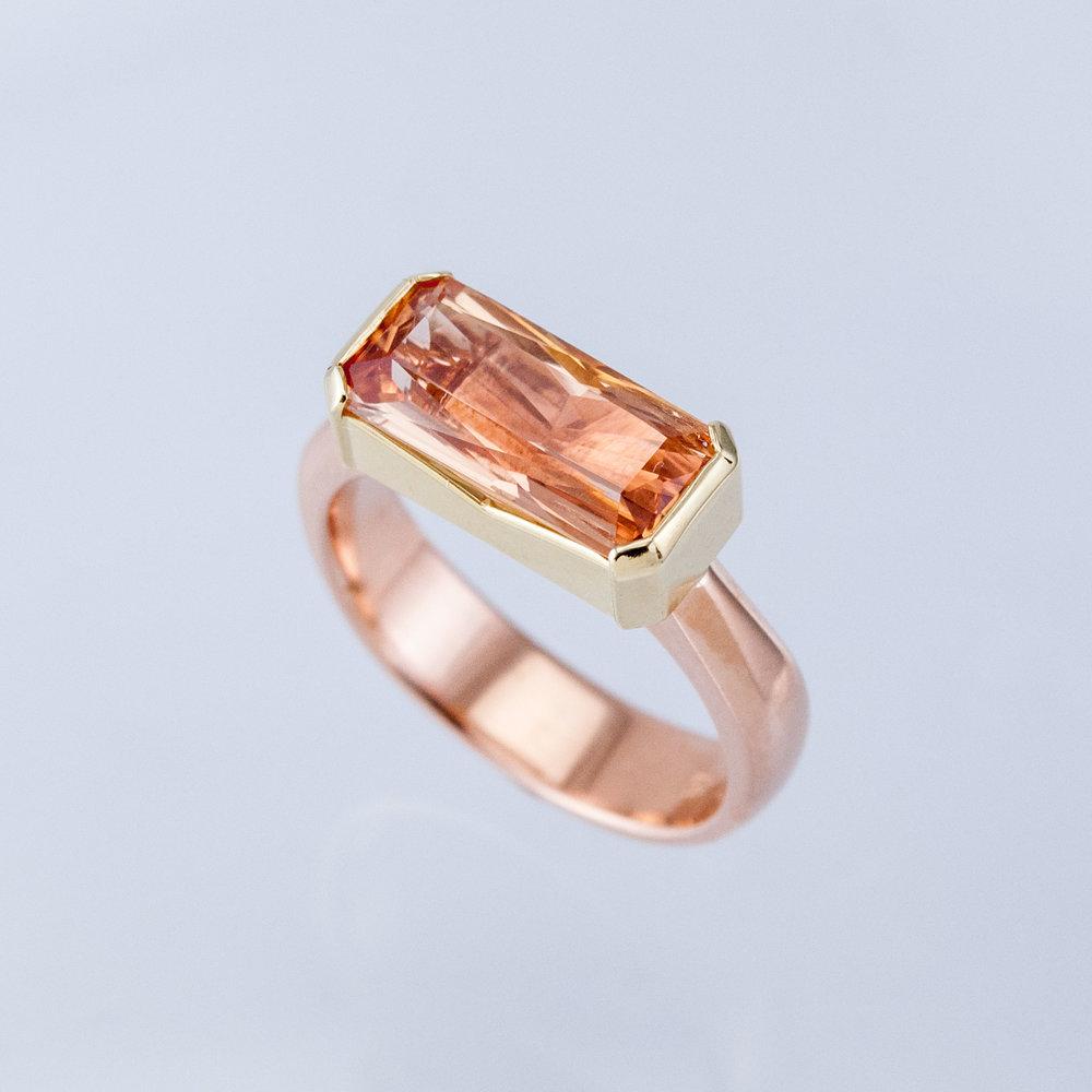 Radiant Topaz Ring