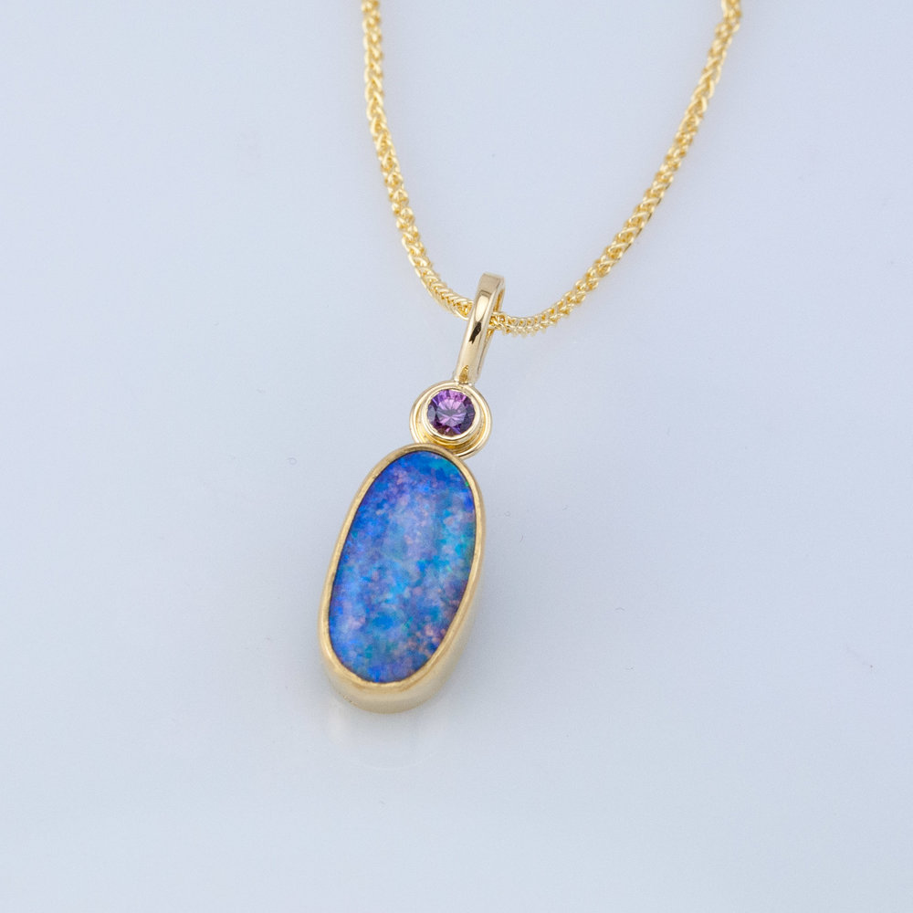 Pendants fairbank and perry goldsmiths boulder opal jellybean pendant mozeypictures Image collections