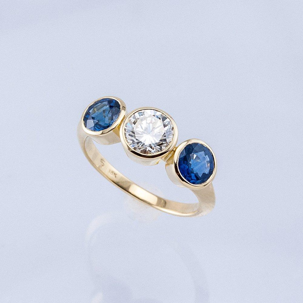 Three Bezels Ring