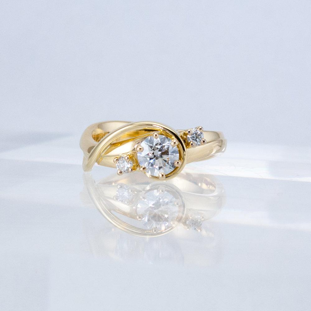Tendril Diamond Ring
