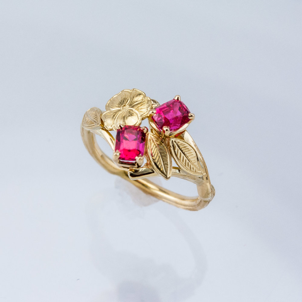 Cherry Twig Ring