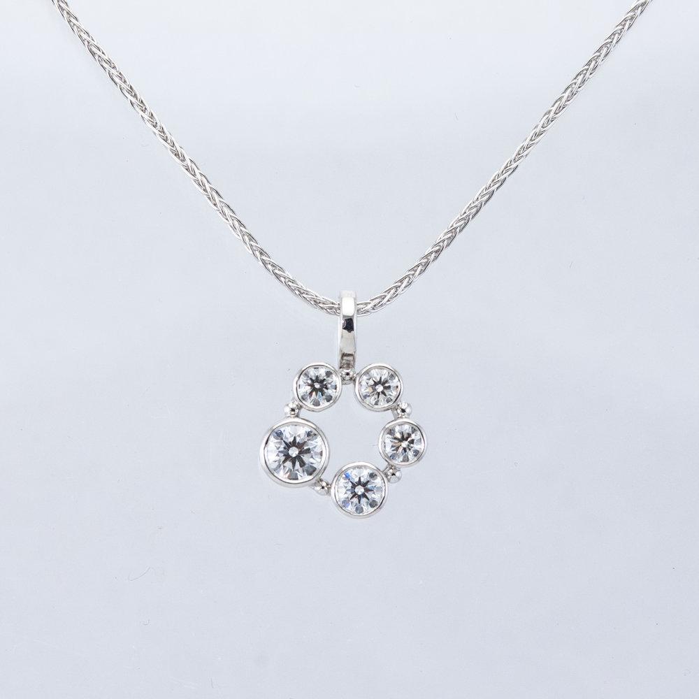 Custom Diamond Circle Pendant