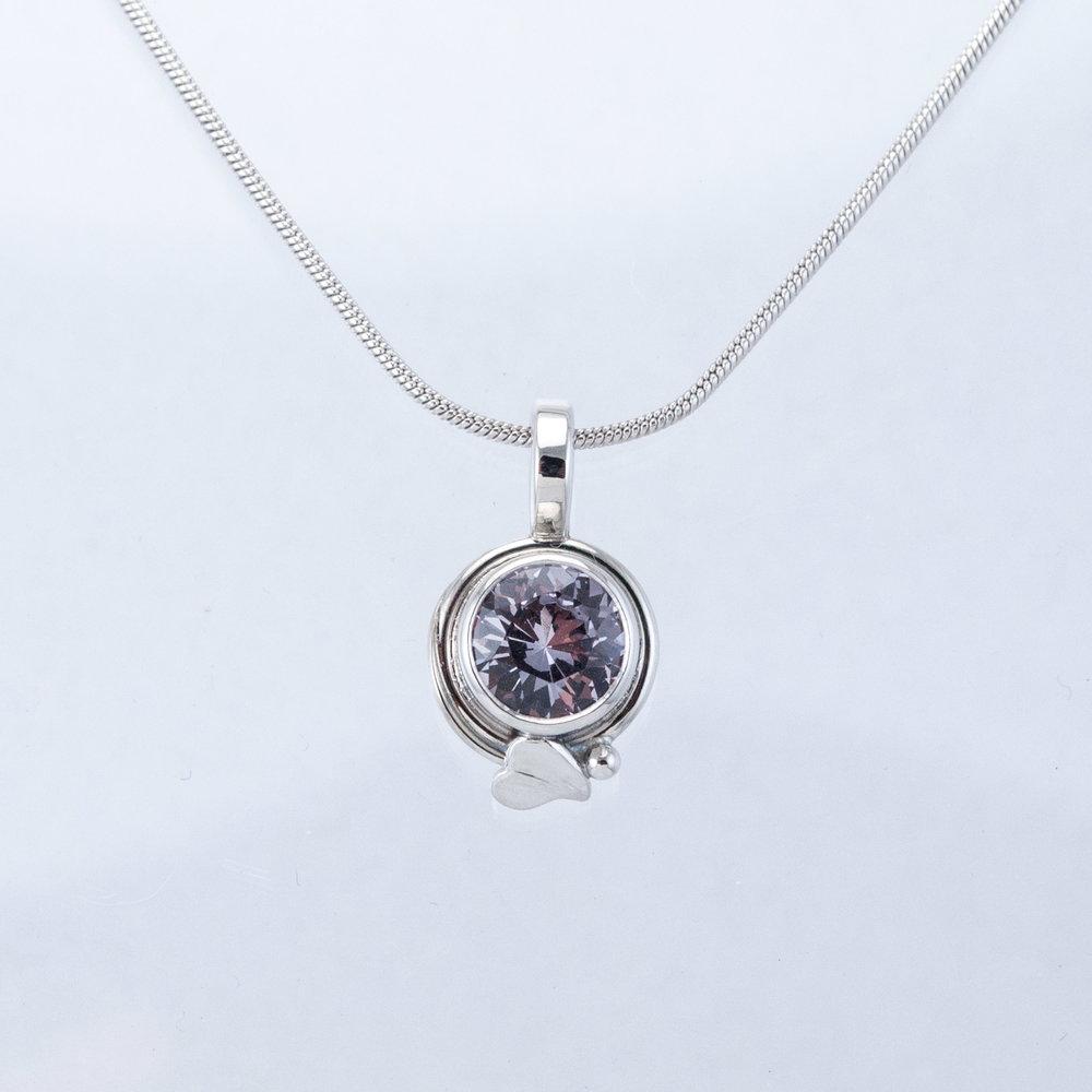 Platinum Spinel Pendant