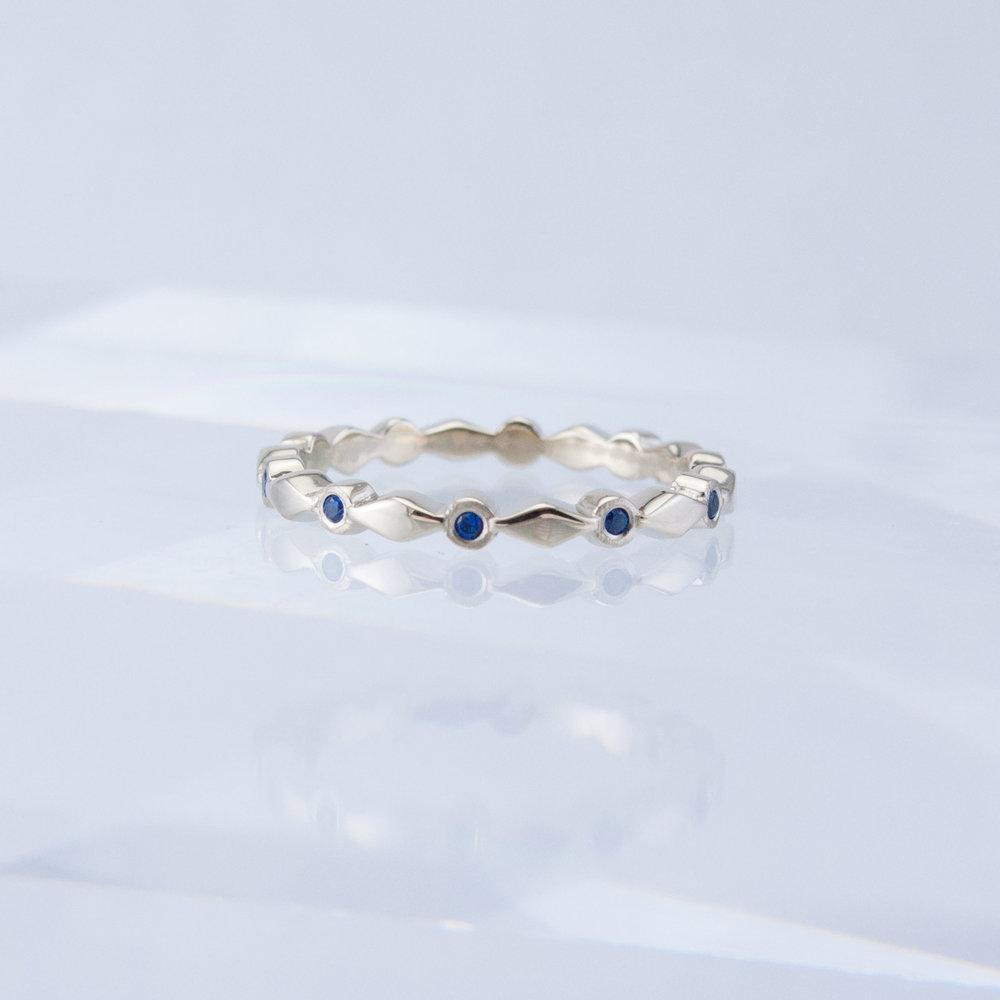 Harlequin Sapphire Stacking Ring