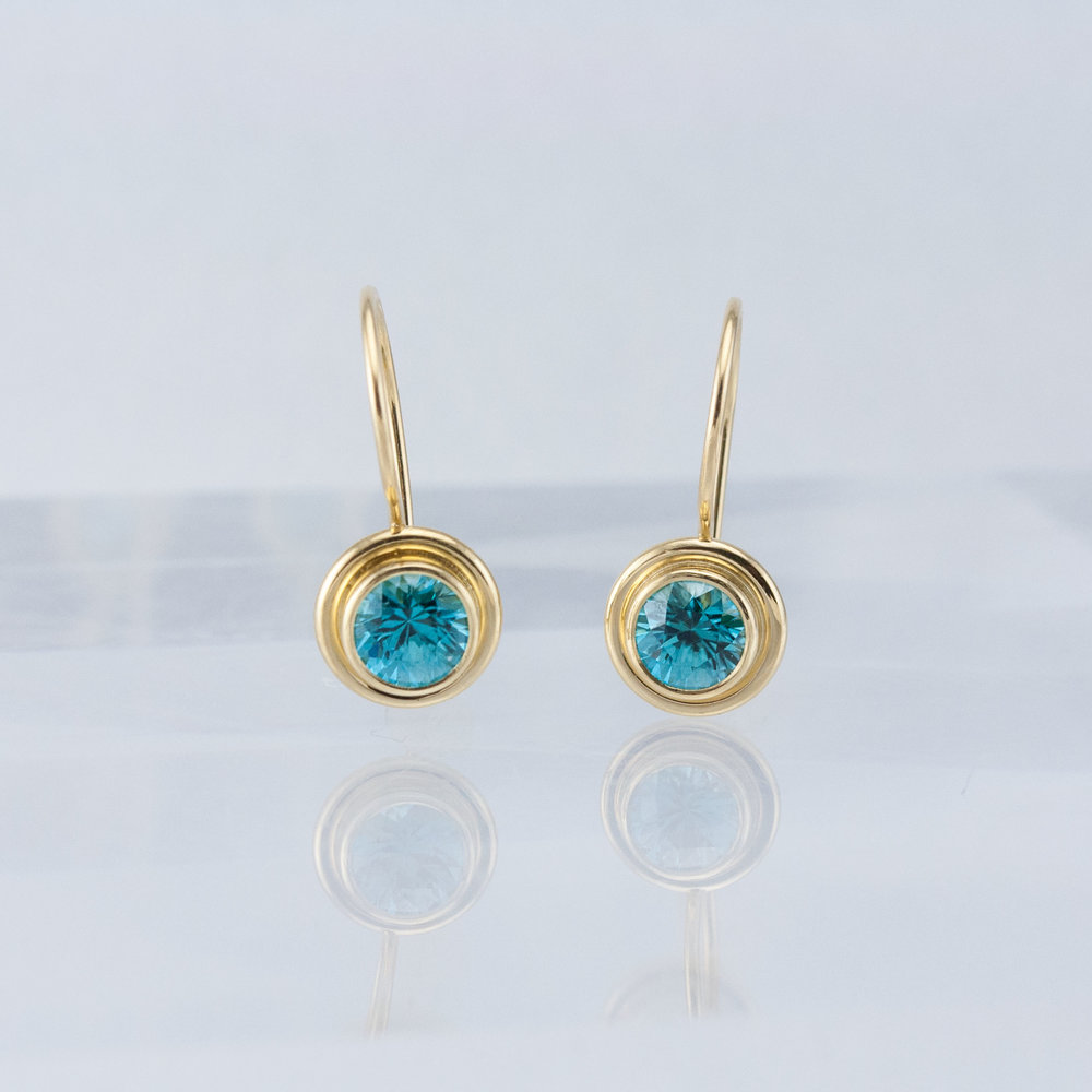 Lollipop Drops with Blue Zircons